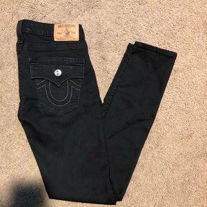 True Religion black skinny stretch size 29